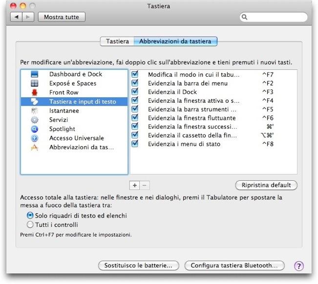 Snow Leopard Personalizzare Le Abbreviazioni Da Tastiera SPIDER MAC