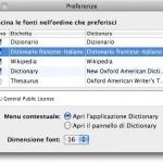 Dizionario rapido francese-italiano per Dizionario di Mac OS X