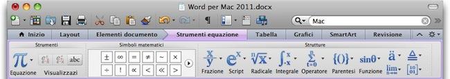 Microsoft Word Equazione