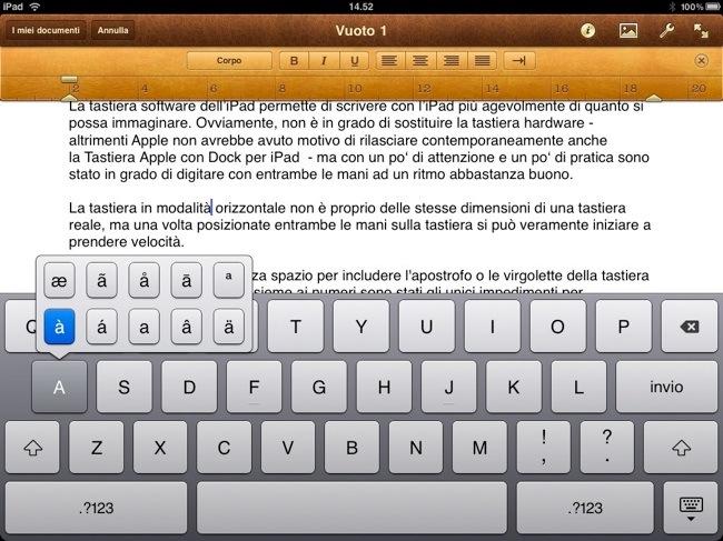 La tastiera digitale dell'iPad può sostituire una tastiera hardware?