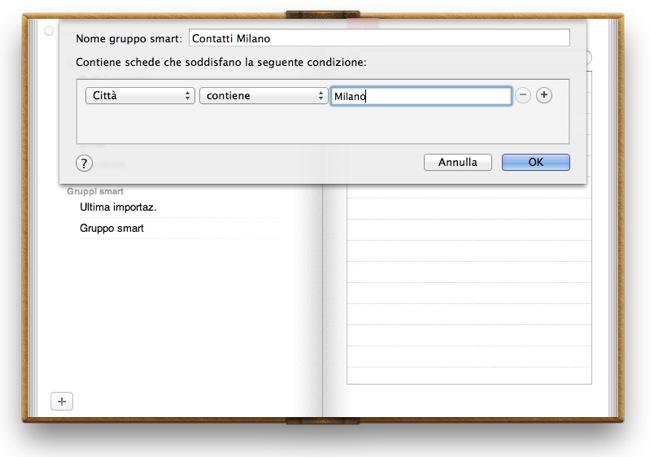 Rubrica Indirizzi Mac OS X