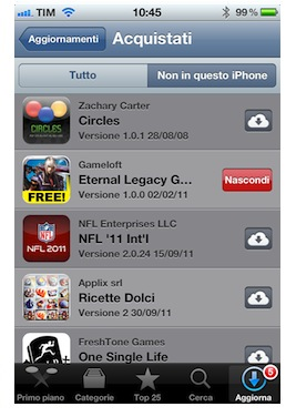 Calendario iOS 5 eventi