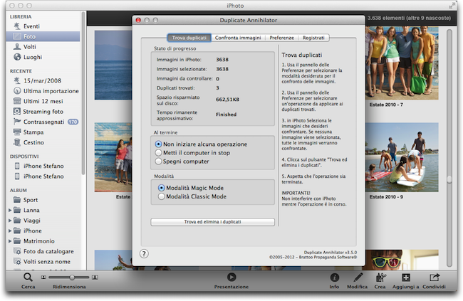 how to delete duplicate photos in iphoto