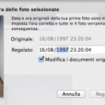 iPhoto: modificare la data delle fotografie