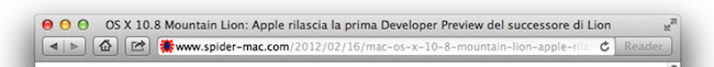 Safari URL Mountain Lion