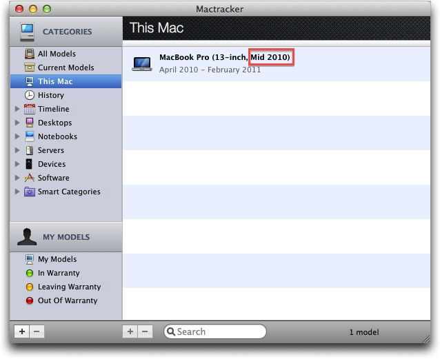 Mountain Lion requisiti MacTracker