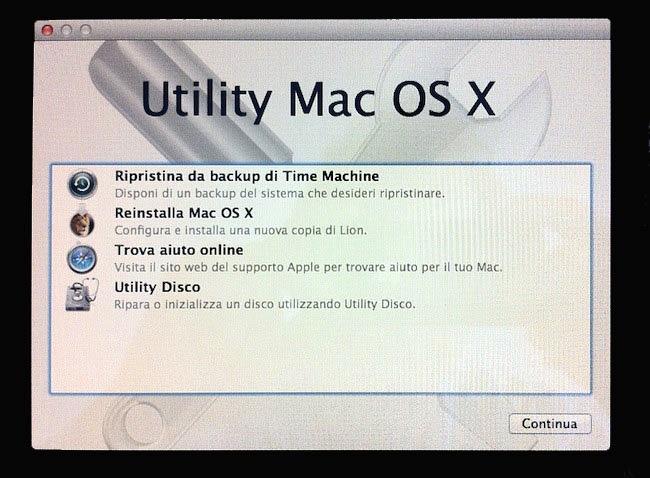 Utility Mac OS X