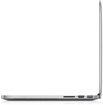 MacBook Pro 13 Retina profilo aperto
