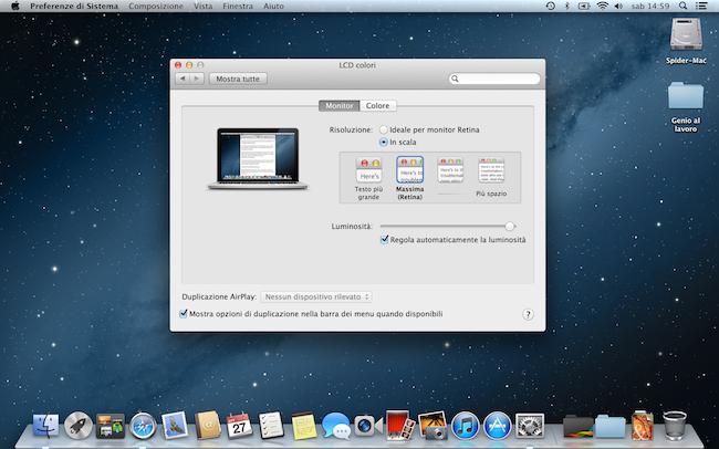 MacBookPro 13 Retina massima 650