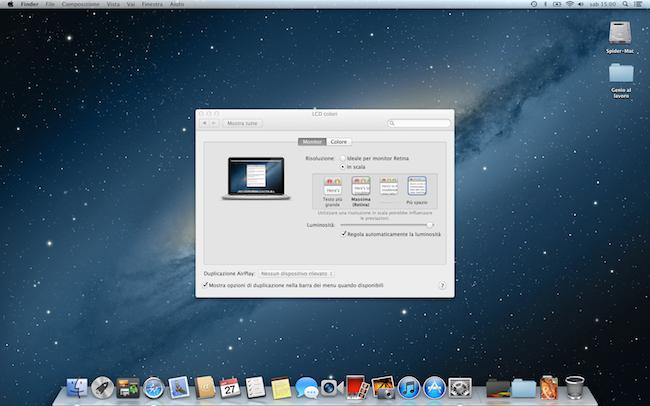 MacBookPro 13 Retina piu spazio 650