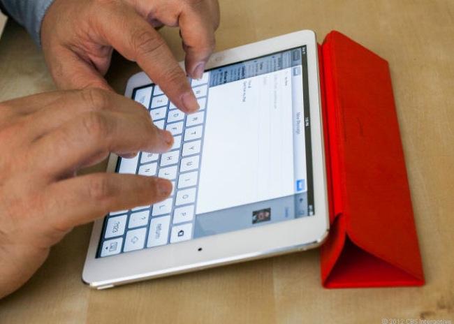 iPad mini scrittura testo