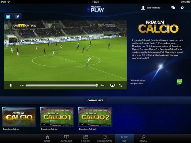 Streaming serie a come vedere le partite della 32a for Premium play su smart tv calcio live