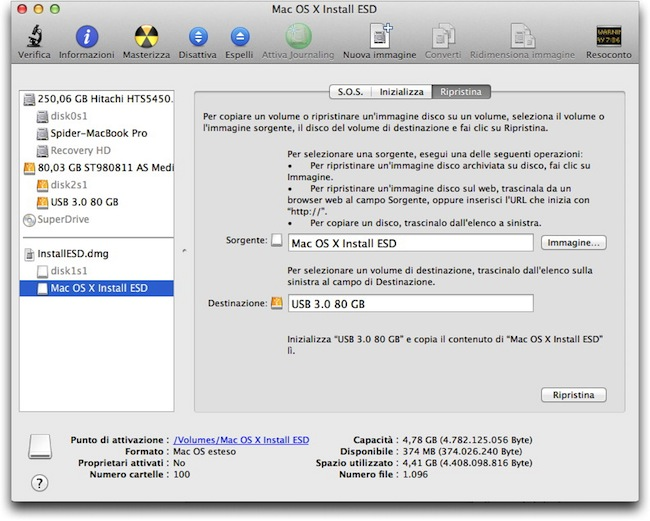 Mountain Lion drive bootable