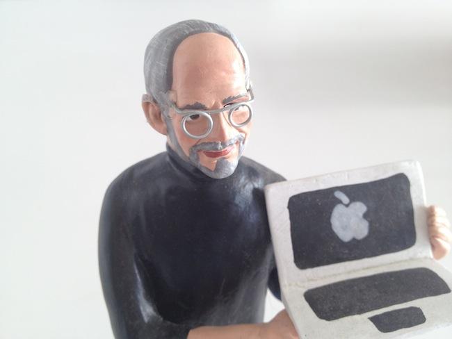 Steve Jobs statuita Presepe particolare