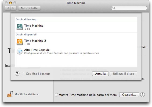 Backup ridondanti Time Machine 2