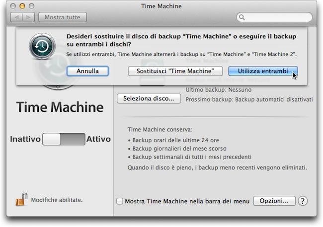 Backup ridondanti Time Machine