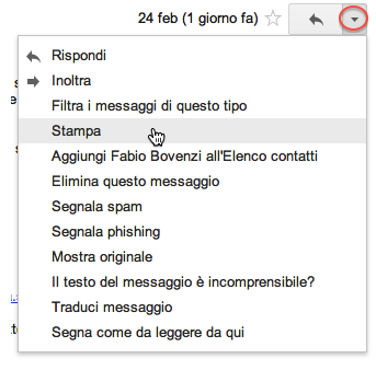 Gmail stampa