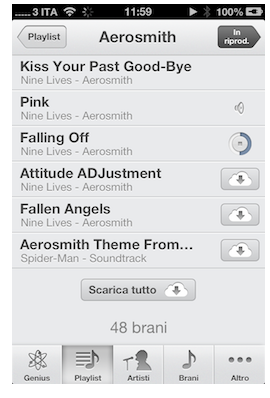 ITunes Match download singola canzone