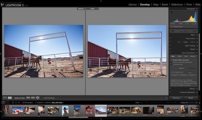 Adobe Lightroom 5 beta Upright