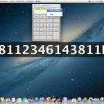 Visualizzare a caratteri grandi il risultato della Calcolatrice di OS X