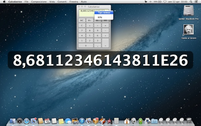 Calcolatrice Tipo esteso