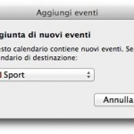 Unire due calendari di Calendario per Mac in uno solo