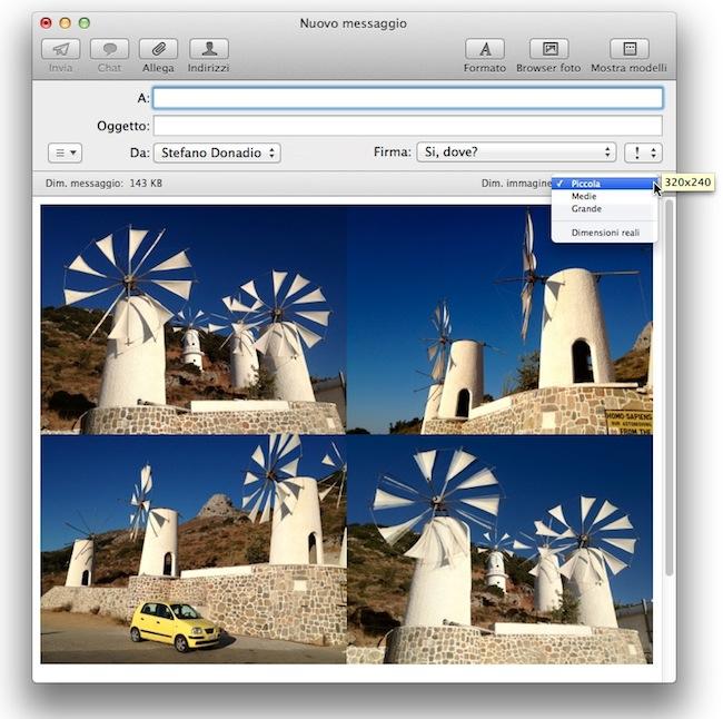 Mail ridimensiona immagini