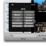 iPhoto: ricerca delle fotografie in base alla data