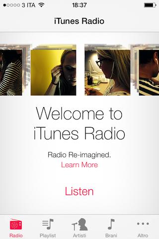 Benvenuto iTunes Radio