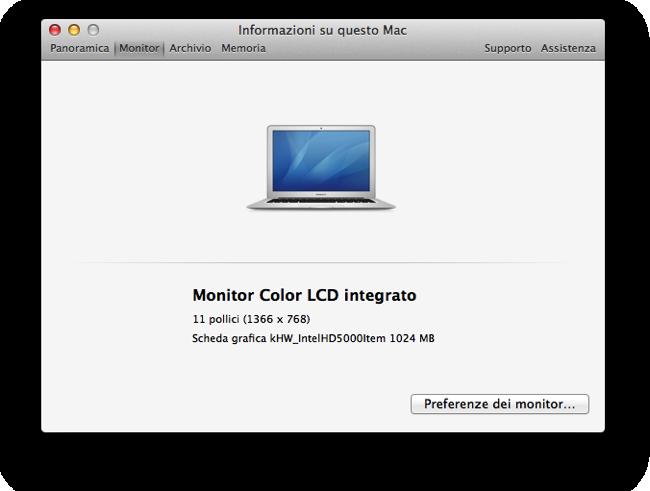 MacBook Air 11 chip grafico