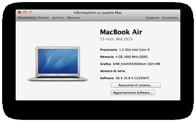 MacBook Air 13 meta 2013