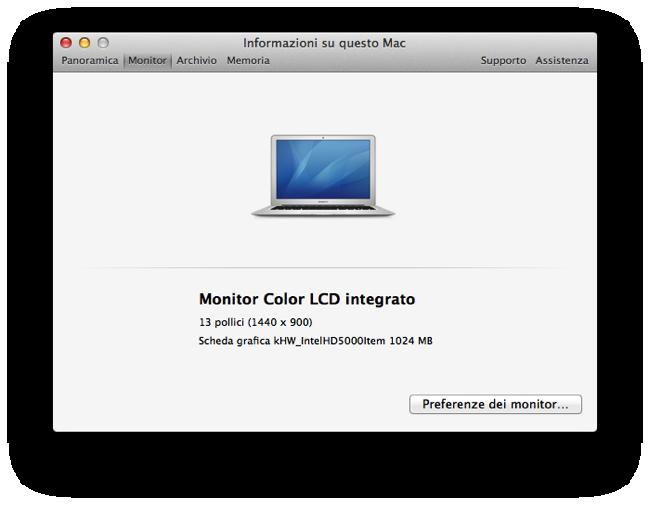 Scheda MacBook Air 13