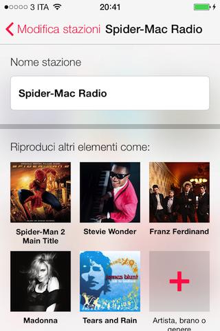 ITunes Radio stazione personalizzata