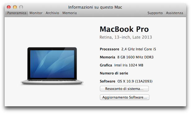 MacBook Pro 13 retina 2 4Ghz