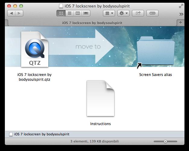 IOS 7 lockscreen installazione