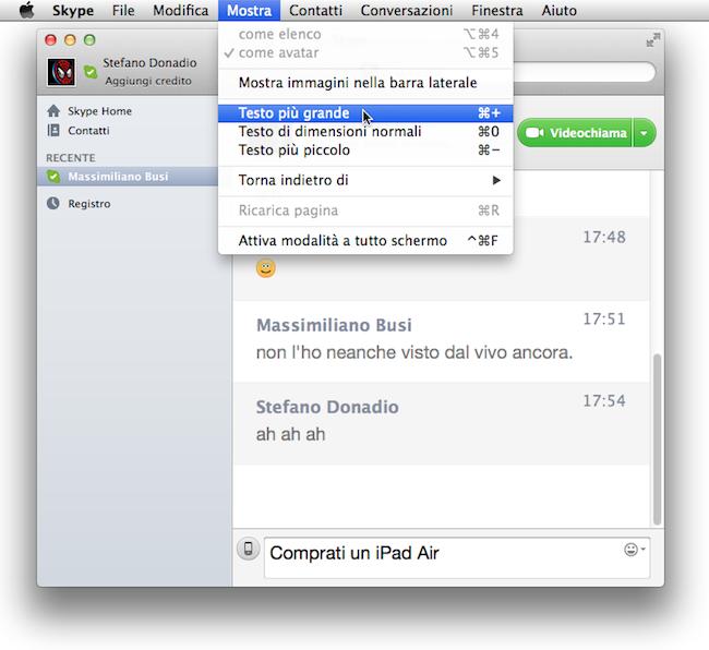 Skype Mac