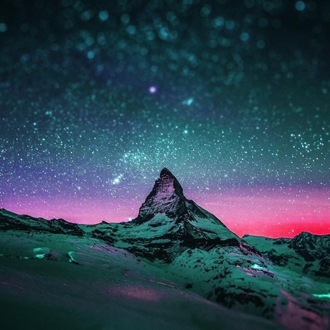 Due spettacolari foto di cielo stellato con effetto for Foto spettacolari per desktop