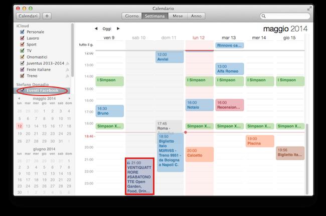 Calendario Facebook