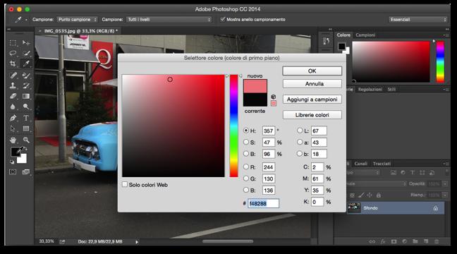 Photoshop sostituzione colore 008