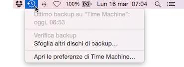 Time Machine verifica
