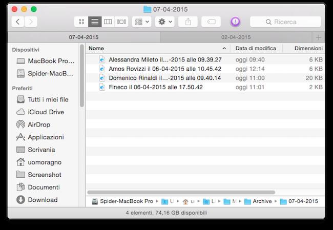 Archivio Messaggi Mac