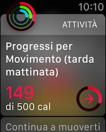 Apple Watch Attivita progressi