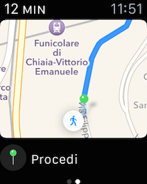 Apple Watch indicazioni Mappe