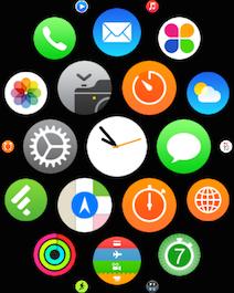 Apple Watch schermata app