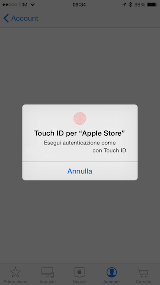 Touch ID Apple Store