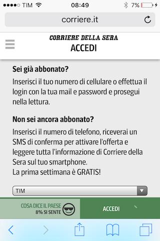Corriere abbonamento
