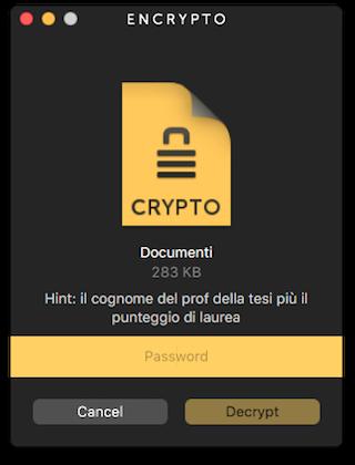 Encrypto cifratura allegati
