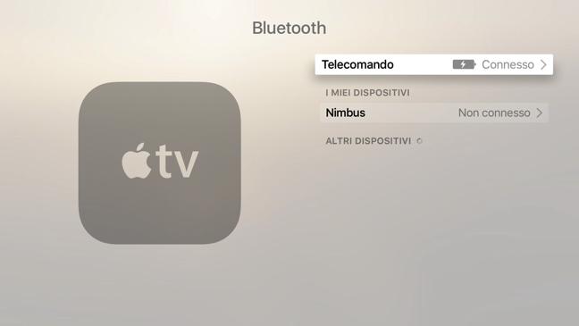 Stato Ricarica Apple Remote Apple TV