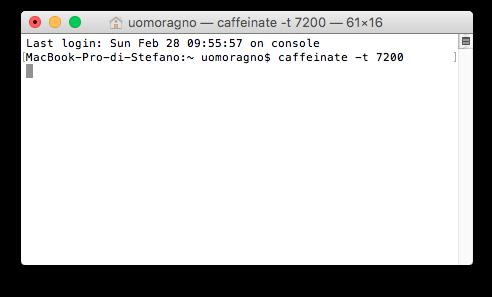 Terminale caffeinate