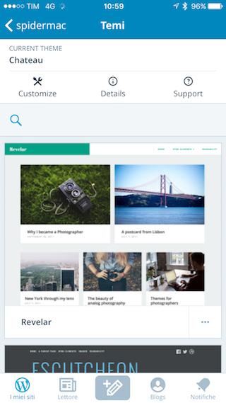 WordPress crea sito iOS